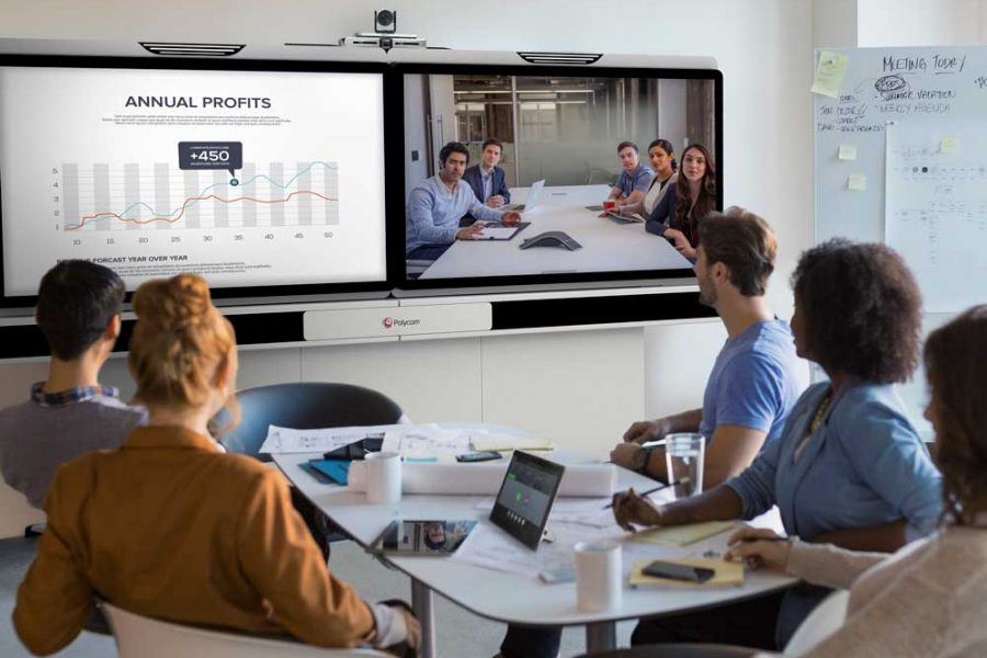 Polycom-Unified-video-conferencing-meeting-room